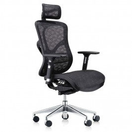 tgeg ergonomic multi function mesh office chair with adjustable armrest headrest and lumbar support in black