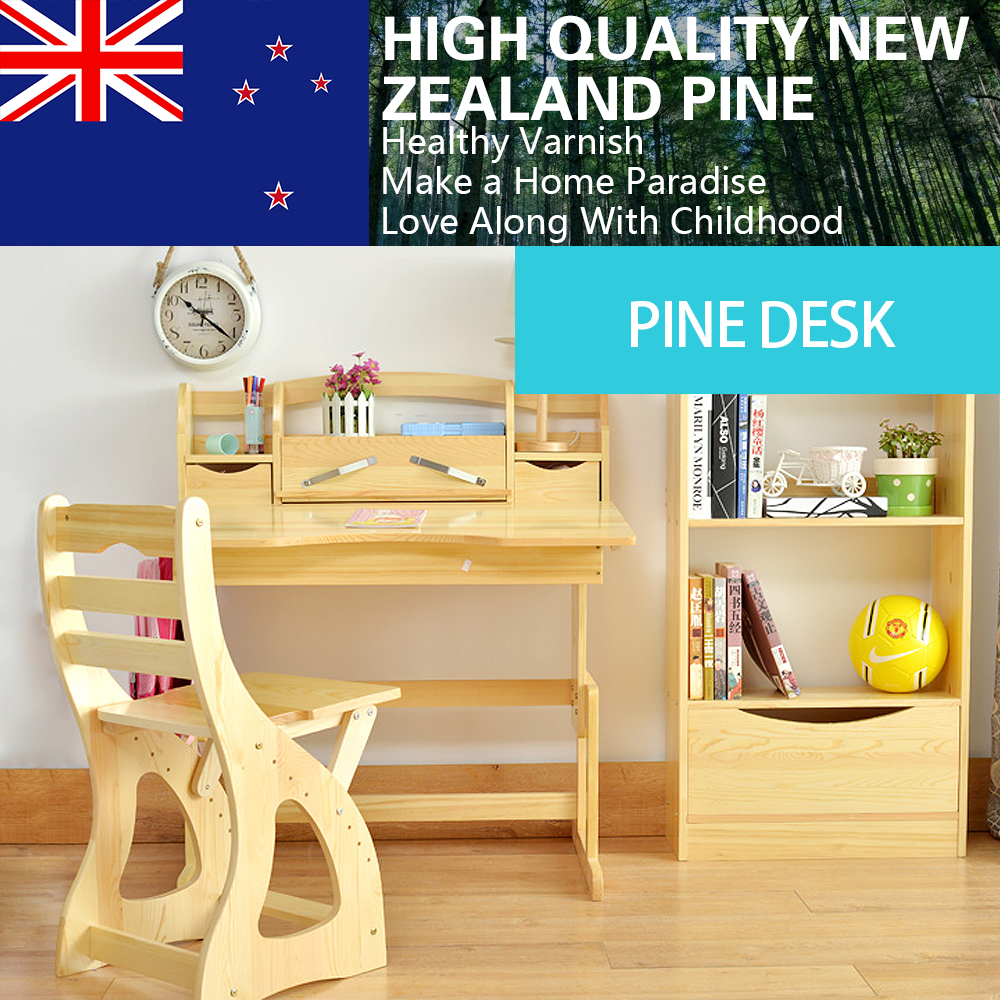 New Zealand Pine Wood Kids Sit And Stand Ergonomic Height Adjule Desk The Care